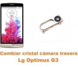 Cambiar cristal cámara trasera Lg Optimus G3 D855