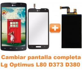 Cambiar pantalla completa Lg Optimus L80 D373 D380