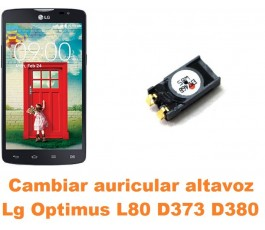 Cambiar auricular altavoz Lg Optimus L80 D373 D380
