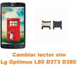 Cambiar lector sim Lg Optimus L80 D373 D380