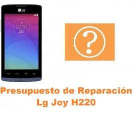 Presupuesto de reparación Lg Joy H220
