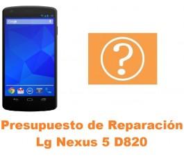 Presupuesto de reparación Lg Nexus 5 D820