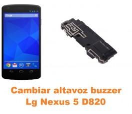 Cambiar altavoz buzzer Lg Nexus 5 D820