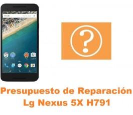 Presupuesto de reparación Lg Nexus 5X H791