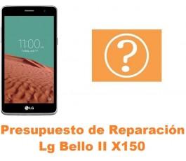 Presupuesto de reparación Lg Bello II X150