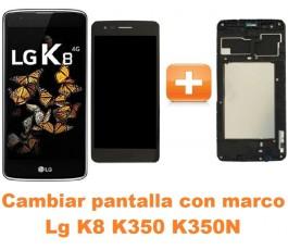 Cambiar pantalla completa con marco Lg K8 K350 K350N