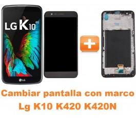 Cambiar pantalla completa con marco Lg K10 K420 K420N