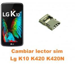 Cambiar lector sim Lg K10 K420 K420N