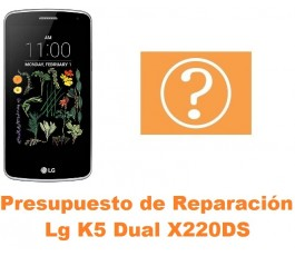 Presupuesto de reparación Lg K5 Dual X220DS