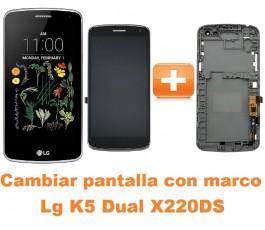 Cambiar pantalla completa con marco Lg K5 Dual X220DS