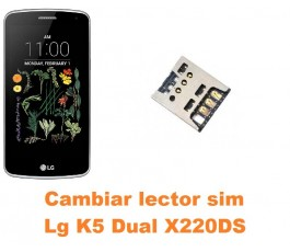 Cambiar lector sim Lg K5 Dual X220DS