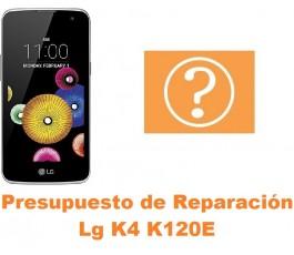 Presupuesto de reparación Lg K4 K120E