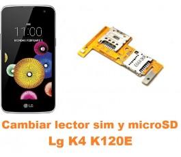 Cambiar lector sim y microSD Lg K4 K120E