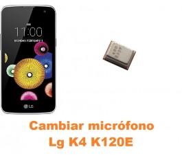 Cambiar micrófono Lg K4 K120E
