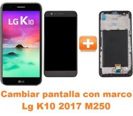 Cambiar pantalla completa con marco Lg K10 2017 M250