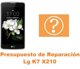 Presupuesto de reparación Lg K7 X210