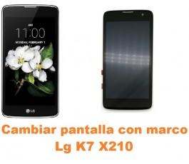 Cambiar pantalla completa con marco Lg K7 X210