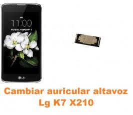Cambiar auricular altavoz Lg K7 X210