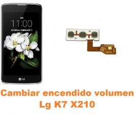 Cambiar encendido y volumen Lg K7 X210