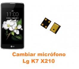 Cambiar micrófono Lg K7 X210