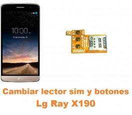 Cambiar lector sim y botones encendido volumen Lg Ray X190