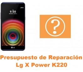 Presupuesto de reparación Lg X Power K220