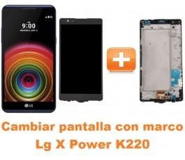 Cambiar pantalla completa con marco Lg X Power K220