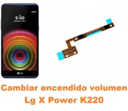 Cambiar encendido y volumen Lg X Power K220