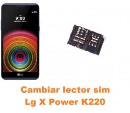 Cambiar lector sim Lg X Power K220