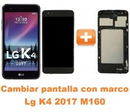 Cambiar pantalla completa con marco Lg K4 2017 M160