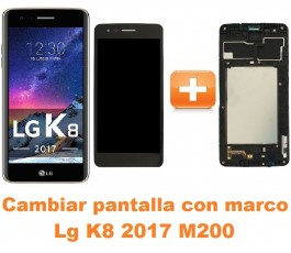 Cambiar pantalla completa con marco Lg K8 2017 M200