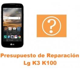 Presupuesto de reparación Lg K3 K100