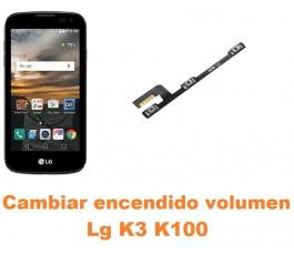Cambiar encendido y volumen Lg K3 K100