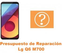 Presupuesto de reparación Lg Q6 M700