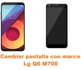 Cambiar pantalla completa con marco Lg Q6 M700