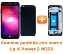 Cambiar pantalla completa con marco Lg X Power 2 M320