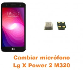Cambiar micrófono Lg X Power 2 M320