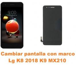 Cambiar pantalla completa con marco Lg K8 2018 K9 MX210