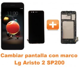 Cambiar pantalla completa con marco Lg Aristo 2 SP200