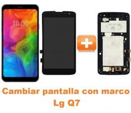 Cambiar pantalla completa con marco Lg Q7