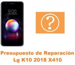 Presupuesto de reparación Lg K10 2018 X410