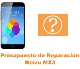 Presupuesto de reparación Meizu MX3
