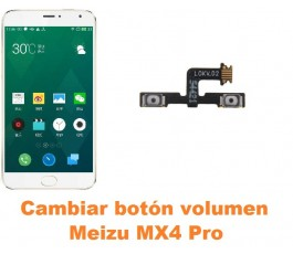 Cambiar botón volumen Meizu MX4 Pro
