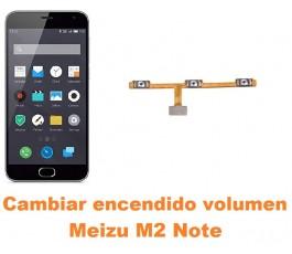 Cambiar encendido y volumen Meizu M2 Note
