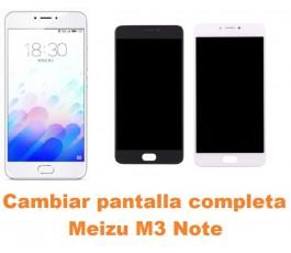 Cambiar pantalla completa Meizu M3 Note