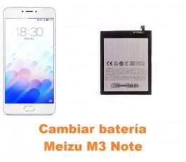 Cambiar batería Meizu M3 Note