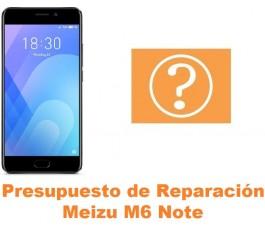 Presupuesto de reparación Meizu M6 Note