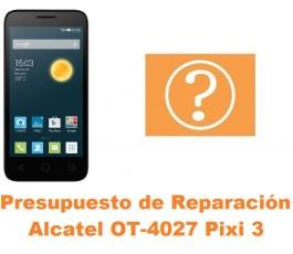 Presupuesto de reparación Alcatel Pixi 3 (4.5) OT-4027