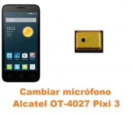 Cambiar micrófono Alcatel Pixi 3 (4.5) OT-4027