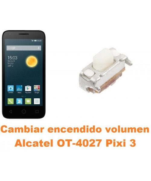 Cambiar encendido y volumen Alcatel Pixi 3 (4.5) OT-4027
